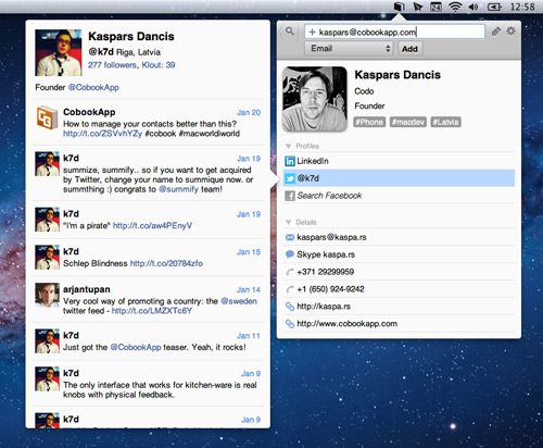 contact apps for Mac
